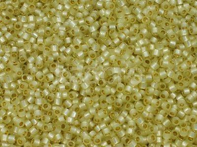 TOHO Treasure 12o-PF2109 PermaFinish Silver-Lined Milky Jonquil - 5 g