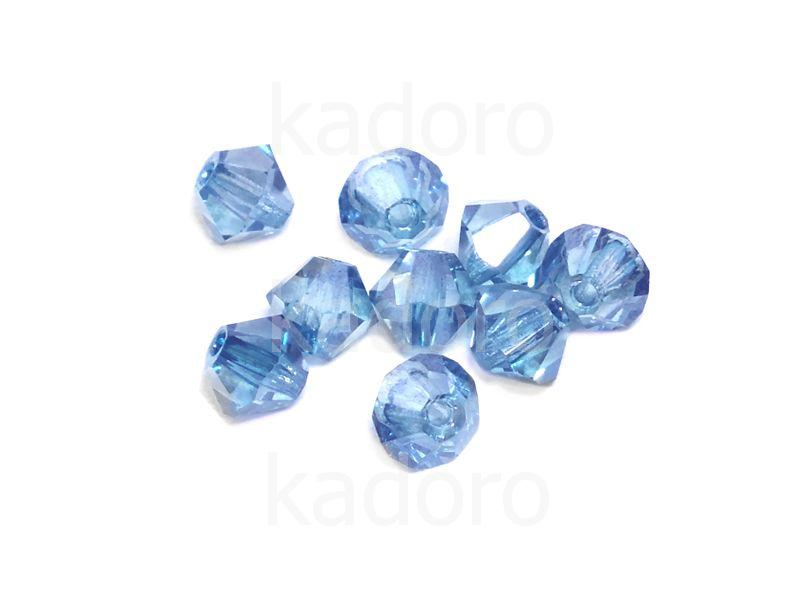 Bicone 3mm Luster - Transparent Blue - 100 sztuk