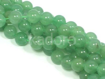 Awenturyn zielony kula 8 mm - sznur 39 cm