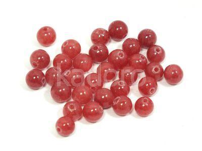 Jadeit malinowy kula 4.5 mm - 4 sztuki
