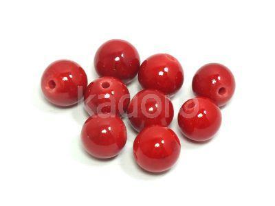 Jadeit czerwony kula 8.5 mm - 2 sztuki