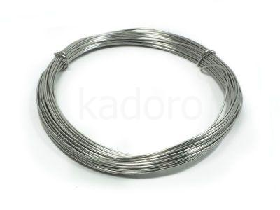 Drut jubilerski aluminiowy 0.8 mm szary - 10 m