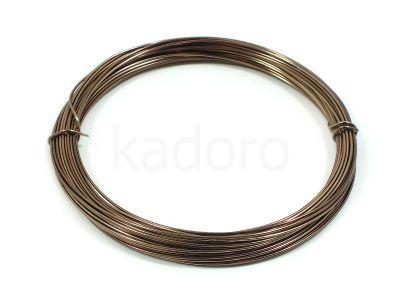 Drut jubilerski aluminiowy 0.8 mm brązowy - 10 m