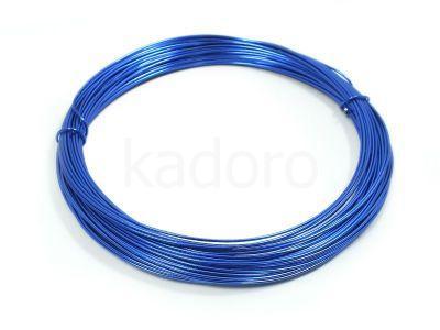 Drut jubilerski aluminiowy 0.8 mm niebieski - 10 m
