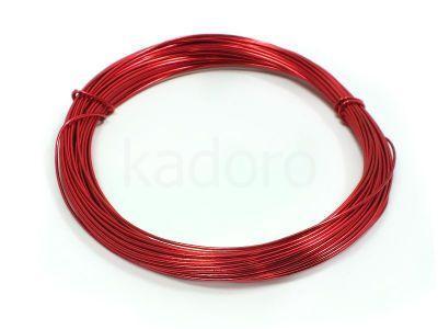 Drut jubilerski aluminiowy 0.8 mm czerwony - 10 m