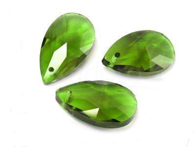 Migdał szklany Fern Green 22 mm - 1 sztuka