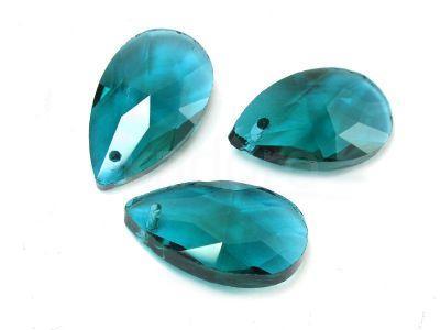 Migdał szklany Caribbean Blue 22 mm - 1 sztuka