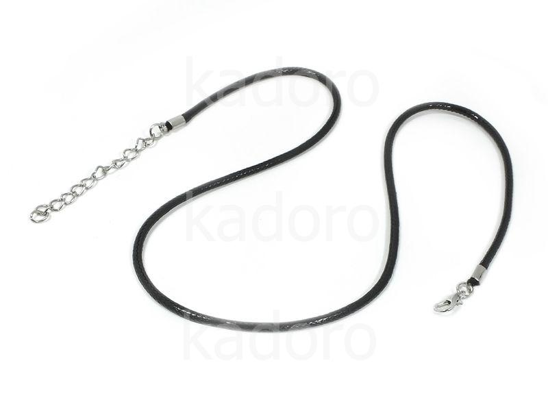 Baza naszyjnika sznurek czarny - 1 sztuka