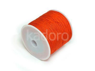 Sznurek ozdobny ciemnopomarańczowy 0.8 mm - 3 m