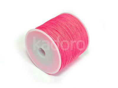 Sznurek ozdobny różowy 0.8 mm - 3 m