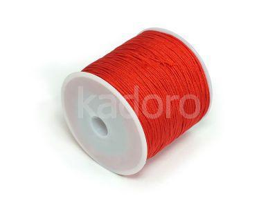 Sznurek ozdobny czerwony 0.8 mm - 3 m