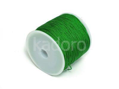 Sznurek ozdobny zielony 0.8 mm - 3 m