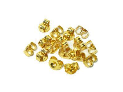 Baranki stalowe złote małe - 2 sztuki