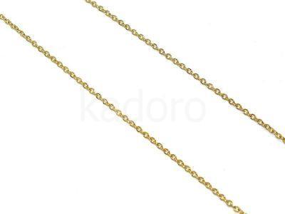 Łańcuszek stalowy złoty 1.5x2.0 mm - 0.5 m