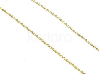 Łańcuszek stalowy złoty 1.3x1.5 mm - 0.5 m
