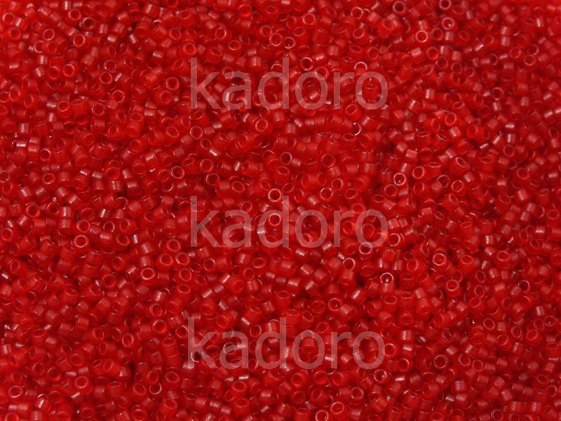 Miyuki Delica DB0774 Semi-Matte Transparent Red Dyed - 5 g