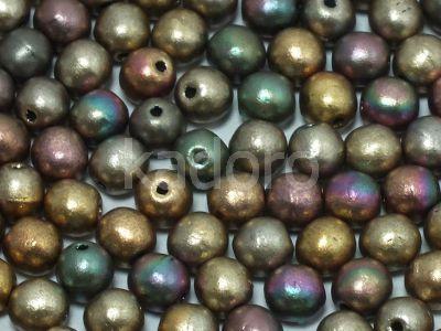 Round Beads Matte Metallic Iris Gold 4 mm - opakowanie