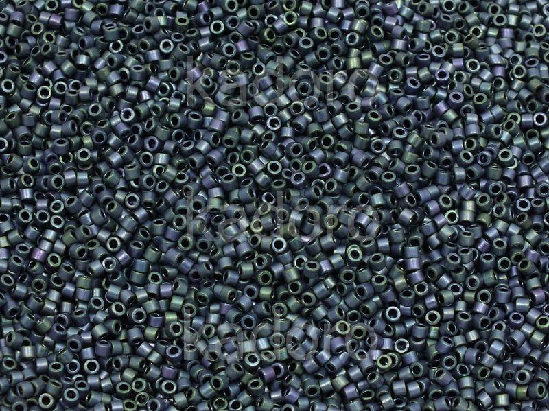 Miyuki Delica DB1052 Matte Metallic Blueberry Gold Iris - 5 g