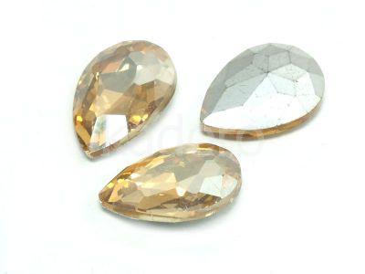 Szklany kamień fasetowany gruszka 18x13mm Crystal Golden Shadow F - 1 sztuka