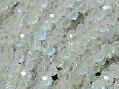 Szklane oponki fasetowane kryształowe AB 4x3 mm - sznur