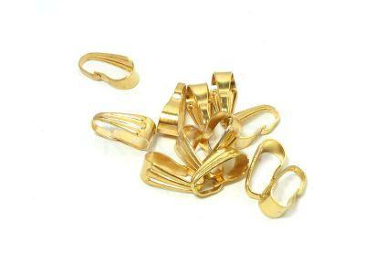 Krawatka stalowa 9 mm złota - 1 sztuka