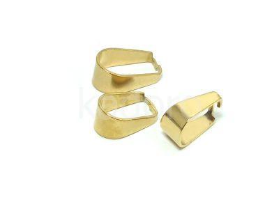 Krawatka stalowa do kamieni 10 mm złota - 1 sztuka