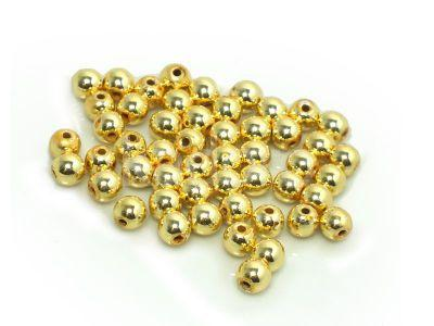 Hematyt jasnozłoty kula 4 mm - 4 sztuki