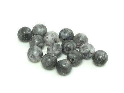 Jadeit matowy szary kula 8 mm - 2 sztuki