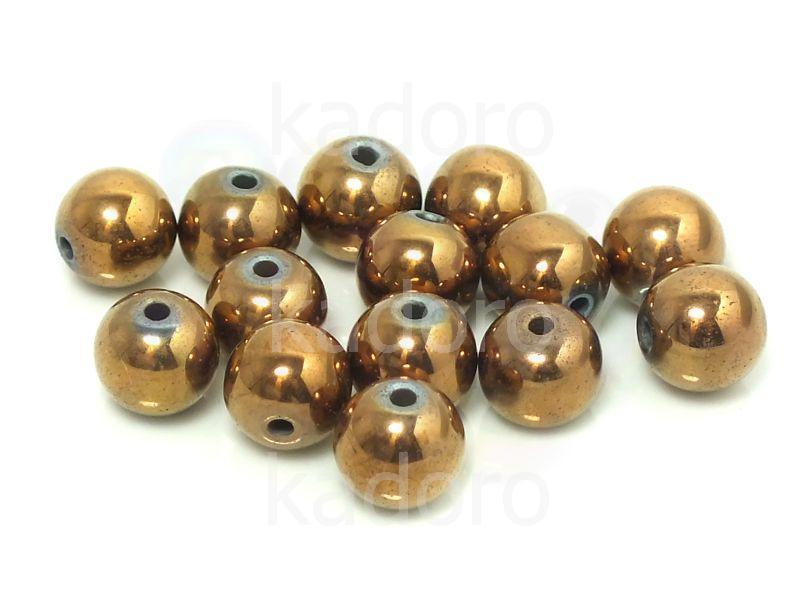 Hematyt brązowy kula 8 mm - 2 sztuki