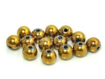 Hematyt złoty kula 8 mm - 2 sztuki