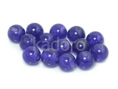 Jadeit fioletowy kula 8 mm - 2 sztuki