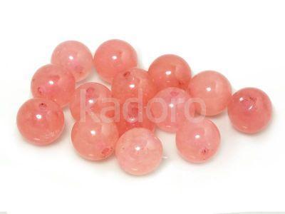 Jadeit arbuzowy kula 8 mm - 2 sztuki