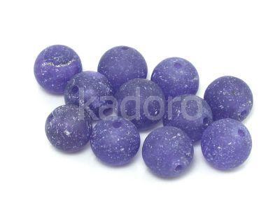 Jadeit matowy fioletowy kula 10 mm - 2 sztuki
