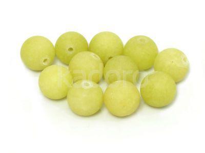 Jadeit matowy oliwkowy kula 10 mm - 2 sztuki