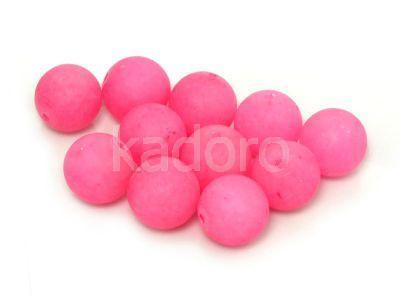 Jadeit matowy różowy kula 10 mm - 2 sztuki