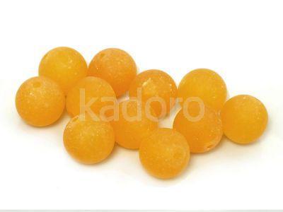 Jadeit matowy pomarańczowy kula 10 mm - 2 sztuki