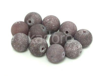 Jadeit matowy popielaty kula 10 mm - 2 sztuki