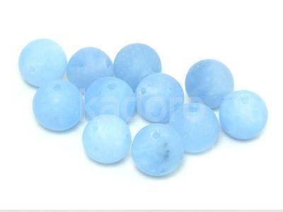 Jadeit matowy błękitny kula 10 mm - 2 sztuki