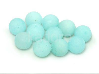 Jadeit matowy lodowy kula 10 mm - 2 sztuki