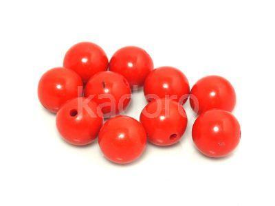 Jadeit czerwony kula 10 mm - 2 sztuki