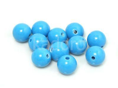 Jadeit niebieski kula 9.5 mm - 2 sztuki