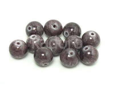 Jadeit śliwkowy kula 10 mm - 2 sztuki