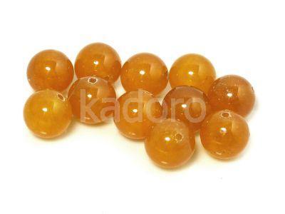 Jadeit pomarańczowy kula 10 mm - 2 sztuki
