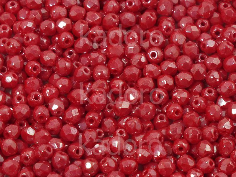 FP 3mm Luster Coral Red - 40 sztuk