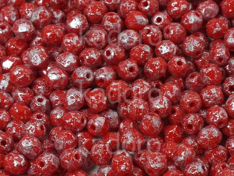 FP 4mm Opaque Red Silver Splash - 50 g