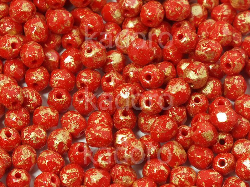 FP 4mm Opaque Red Gold Splash - 50 g
