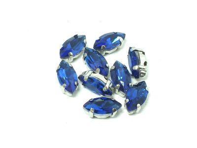 Montees kobaltowe markiza 10x5 mm - 1 sztuka