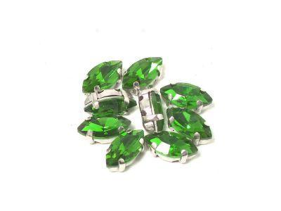 Montees zielone markiza 10x5 mm - 1 sztuka