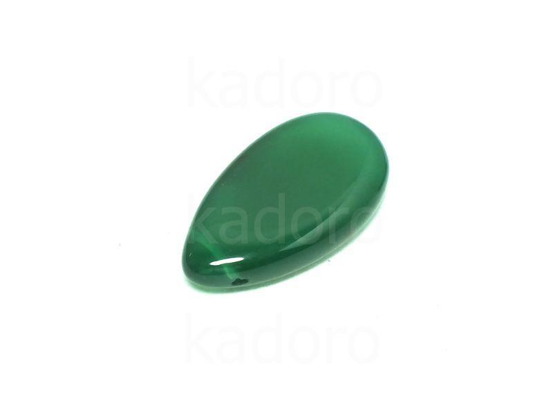 Agat zielony łezka 29x16 mm - unikat nr 17