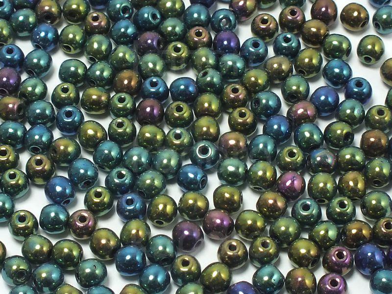 Round Beads Iris Green 3 mm - opakowanie